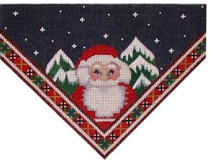 click here to view larger image of Santa/Plaid Stocking Top (hand painted canvases)