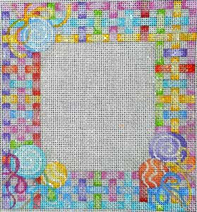 click here to view larger image of Lollipop Lattice Baby Sampler (hand painted canvases)