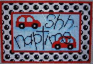 click here to view larger image of Shh Naptime Cars/Dots (hand painted canvases)