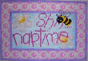 click here to view larger image of Shh Naptime Flowers/Dots (hand painted canvases)
