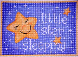 click here to view larger image of Little Star Sleeping (hand painted canvases)