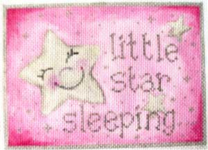 click here to view larger image of Pink Little Star Sleeping (hand painted canvases)