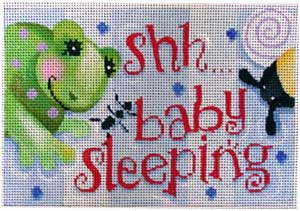 click here to view larger image of Boys Stuff Sleeping Sign (hand painted canvases)