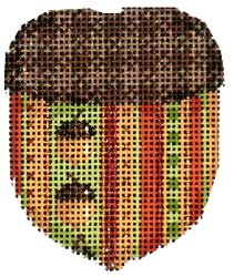 click here to view larger image of Acorn Stripe/Plaid Cap Mini Acorn (hand painted canvases)