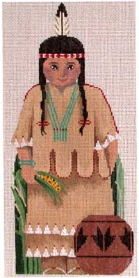 click here to view larger image of Indian Girl (hand painted canvases)