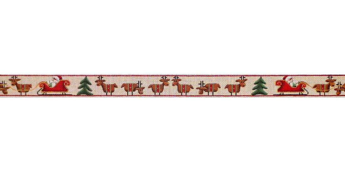 click here to view larger image of Reindeer Belt (hand painted canvases)
