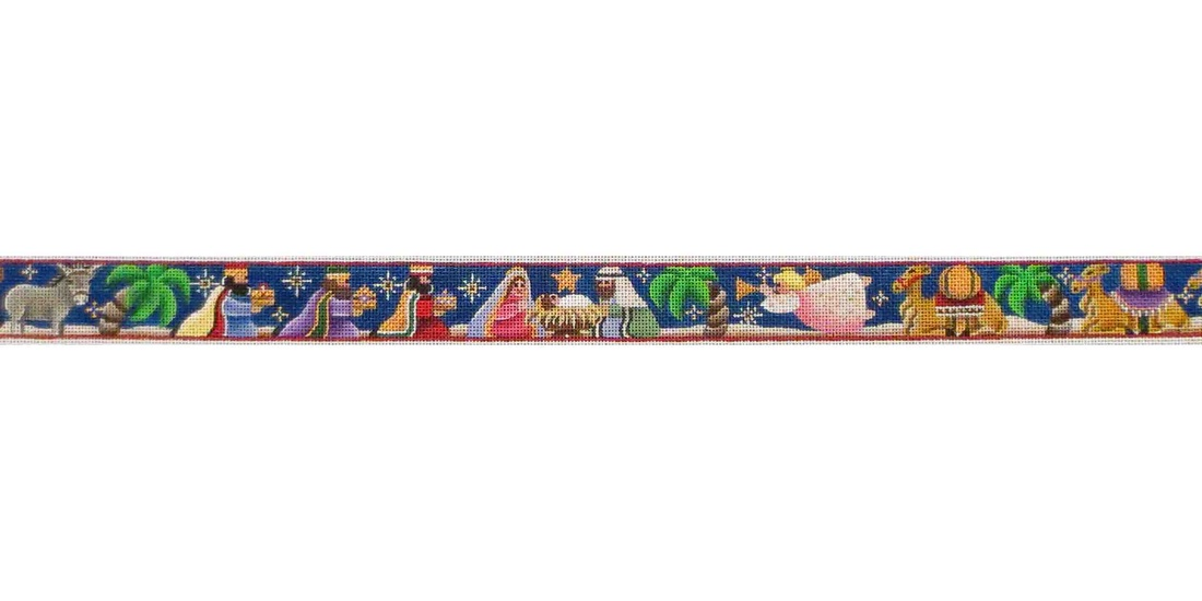 click here to view larger image of Nativity Belt (hand painted canvases)