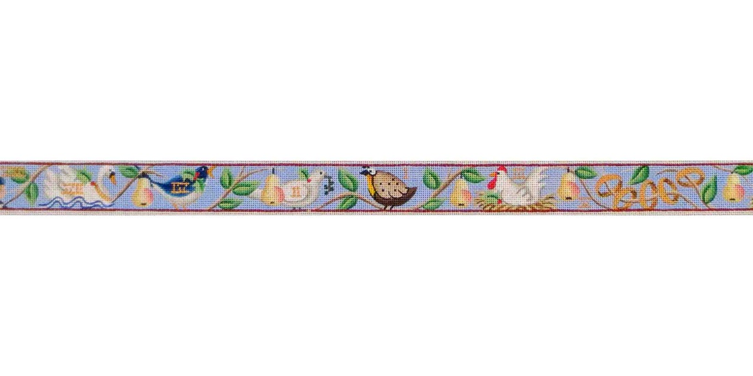 click here to view larger image of 12 Days Of Christmas Belt (hand painted canvases)