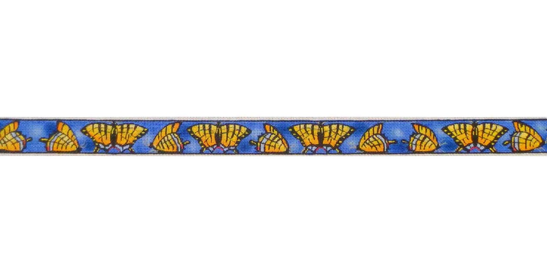 click here to view larger image of Butterflies Belt (hand painted canvases)