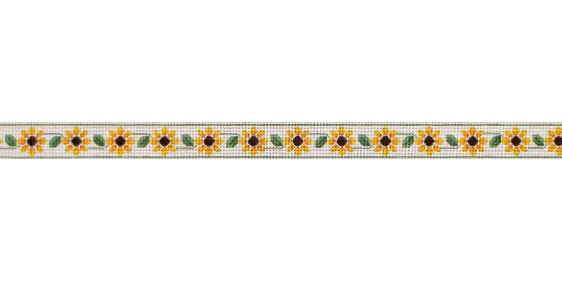 click here to view larger image of Daisy Belt (hand painted canvases)