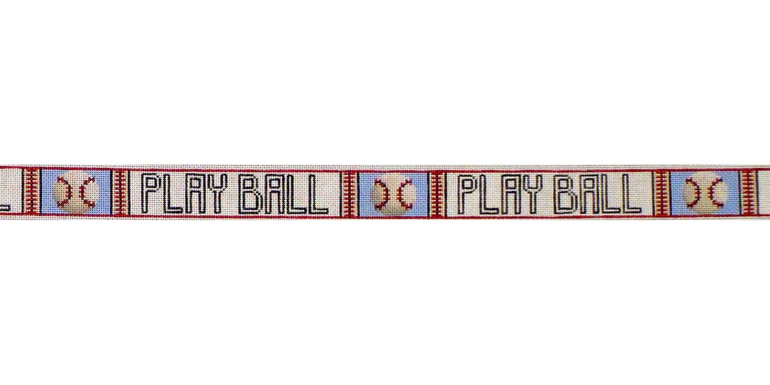 click here to view larger image of Baseball Belt (hand painted canvases)