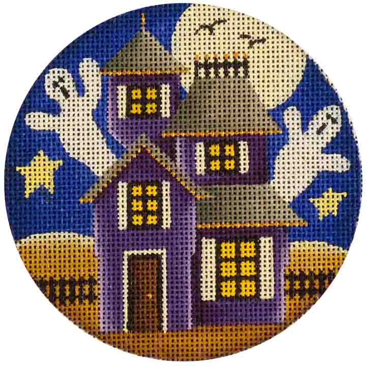 click here to view larger image of Boo House Ornament (hand painted canvases)