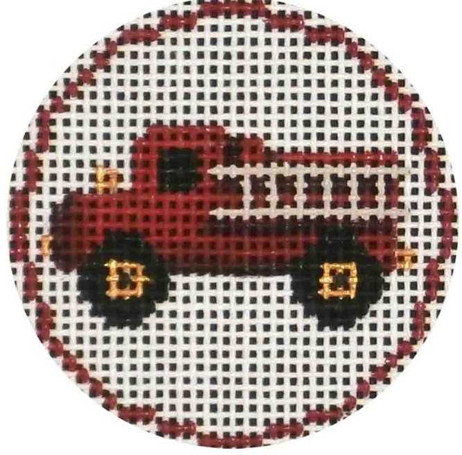 click here to view larger image of Fire Engine Ornament (hand painted canvases)