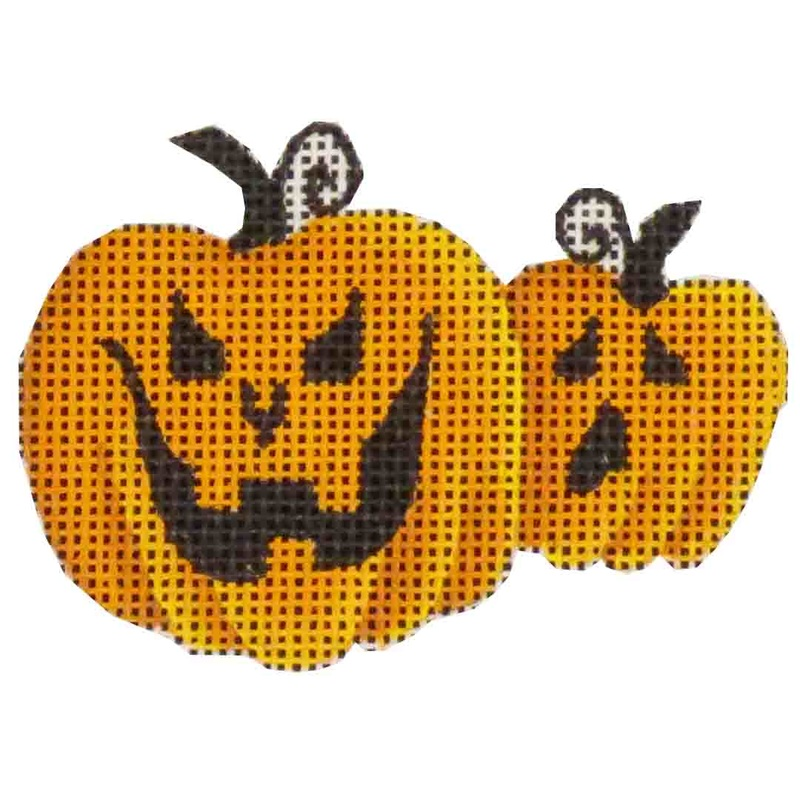click here to view larger image of Pumpkins (hand painted canvases)