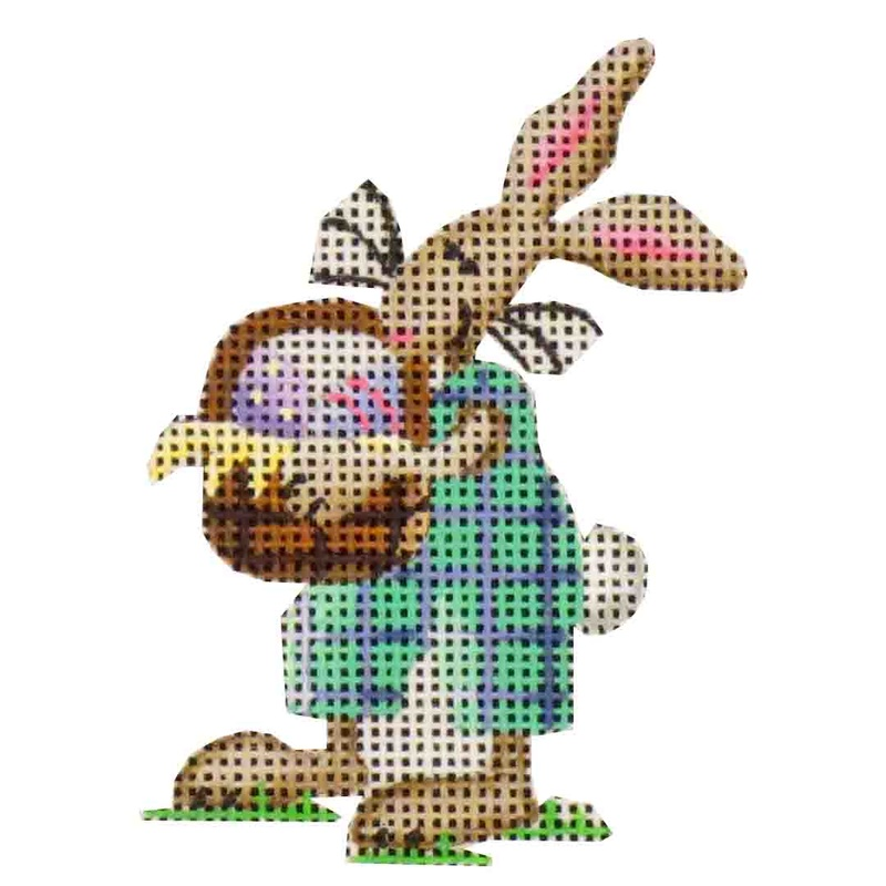 click here to view larger image of Blue Bunny (hand painted canvases)
