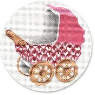 click here to view larger image of Baby Carriage - Pink (hand painted canvases)