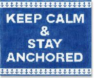 click here to view larger image of Keep Calm and Stay Anchored (hand painted canvases)