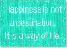 click here to view larger image of Happiness Is Not A Destination (hand painted canvases)