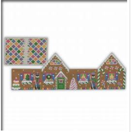 3 Dimensional Gingerbread House hand painted canvases