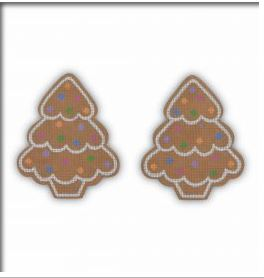 click here to view larger image of Gingerbread Tree (hand painted canvases)