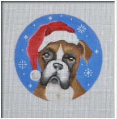 click here to view larger image of Boxer Santa (hand painted canvases)