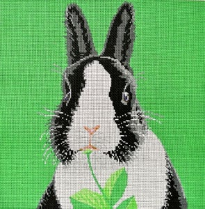 click here to view larger image of Bunny Black and White (hand painted canvases)