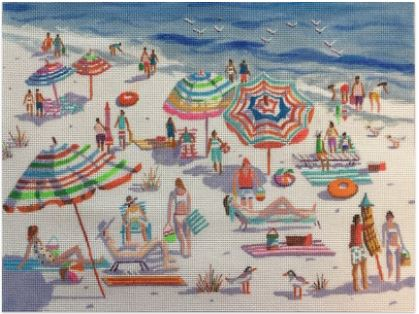 click here to view larger image of Beach Babes (hand painted canvases)