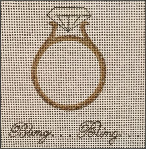 click here to view larger image of Bling Bling Ring (hand painted canvases)