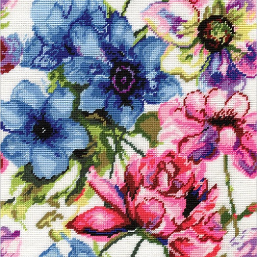 click here to view larger image of Watercolor Floral (needlepoint kits)