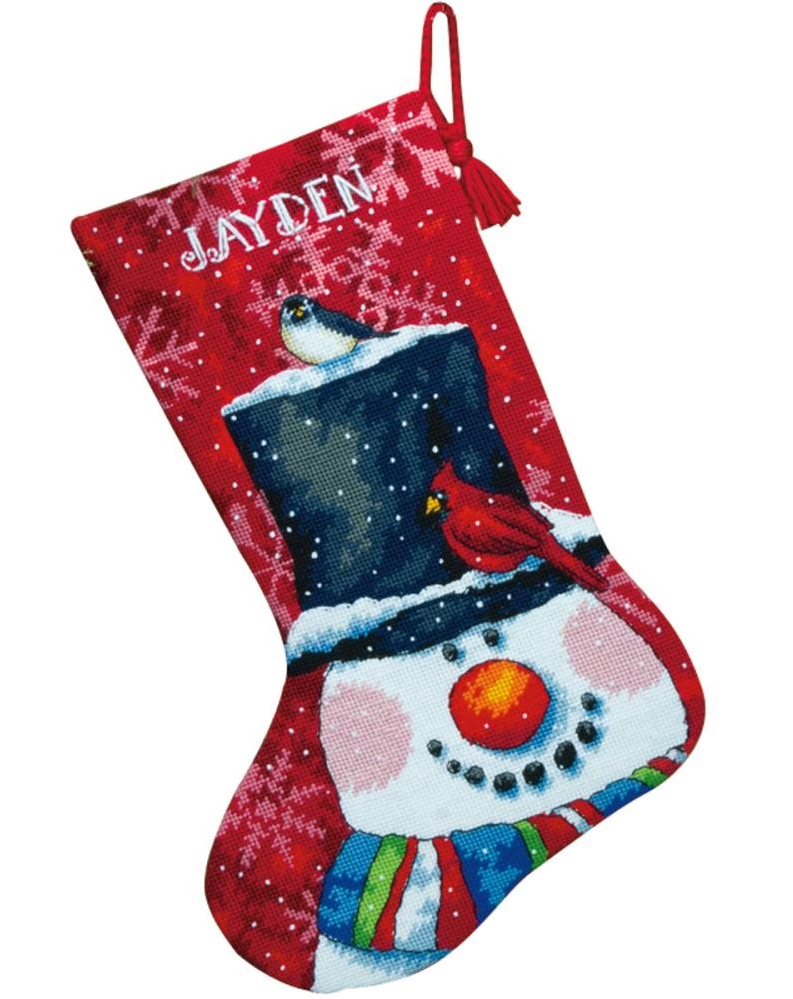 click here to view larger image of Snowman and Friends Stocking (needlepoint kits)