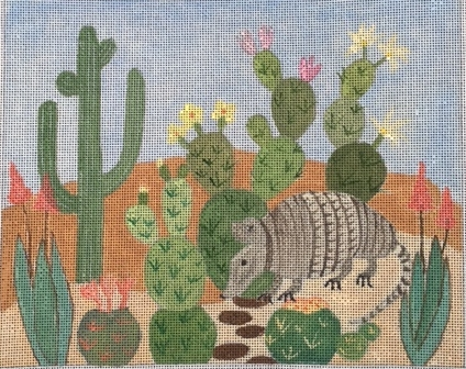 click here to view larger image of Cactus And Armadillo (hand painted canvases)