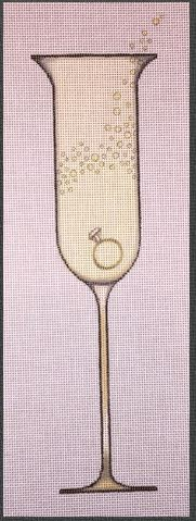 click here to view larger image of Chic Champagne Engagement Ring (hand painted canvases)