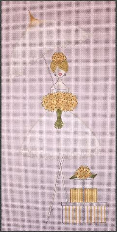 click here to view larger image of Umbrella Bride (hand painted canvases)