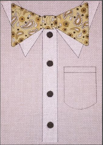 click here to view larger image of Paisley Bowtie (hand painted canvases)