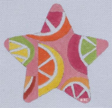 click here to view larger image of Citrus Print Star (hand painted canvases)