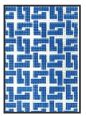 click here to view larger image of Dark Blue Square Chain Purse Insert (hand painted canvases)