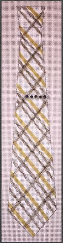 click here to view larger image of Plaid Necktie (hand painted canvases)
