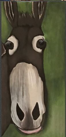 click here to view larger image of Donkey (hand painted canvases)