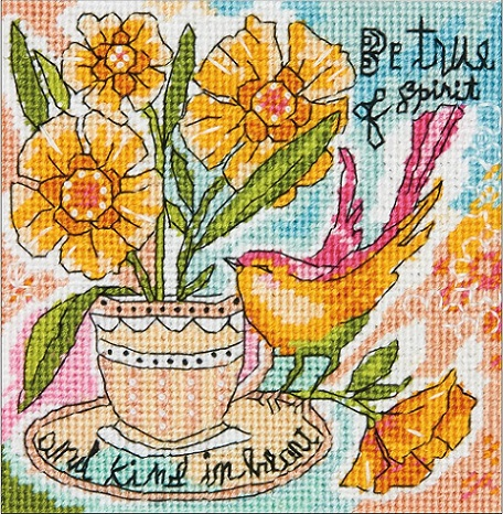 click here to view larger image of Be True of Spirit (needlepoint kits)