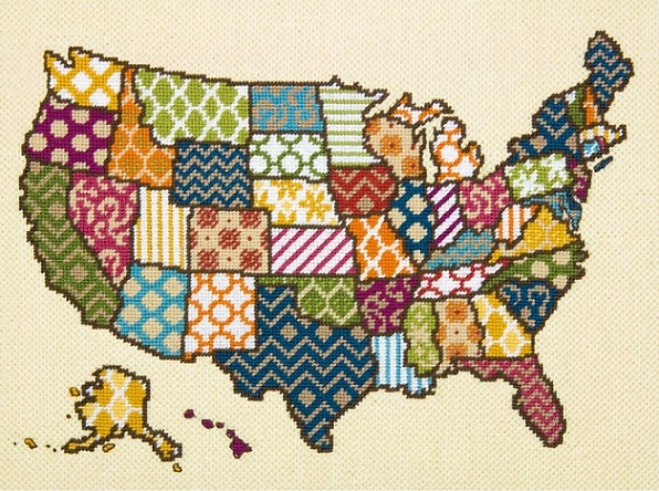 click here to view larger image of United Patterns (needlepoint kits)