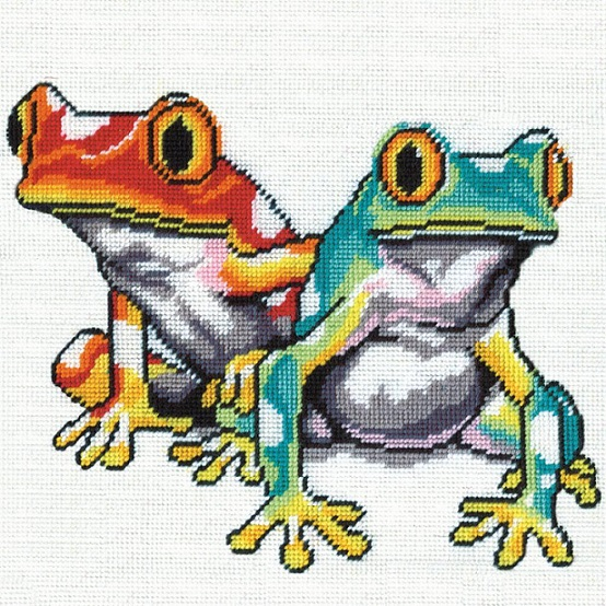 click here to view larger image of Frogs Needlepoint (needlepoint kits)