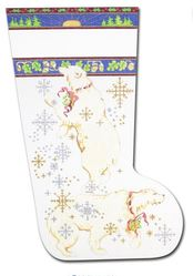click here to view larger image of Polar Bears Stocking (hand painted canvases)