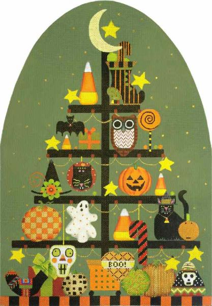 click here to view larger image of Big Halloween Tree (hand painted canvases)