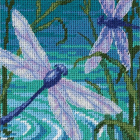 click here to view larger image of Dragonfly Pair (needlepoint kits)