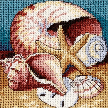 click here to view larger image of Shell Collage (needlepoint kits)