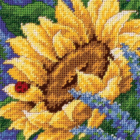 click here to view larger image of Sunflower & Ladybug (needlepoint kits)