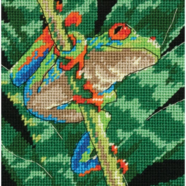 click here to view larger image of Red-Eyed Leaf Frog (needlepoint kits)