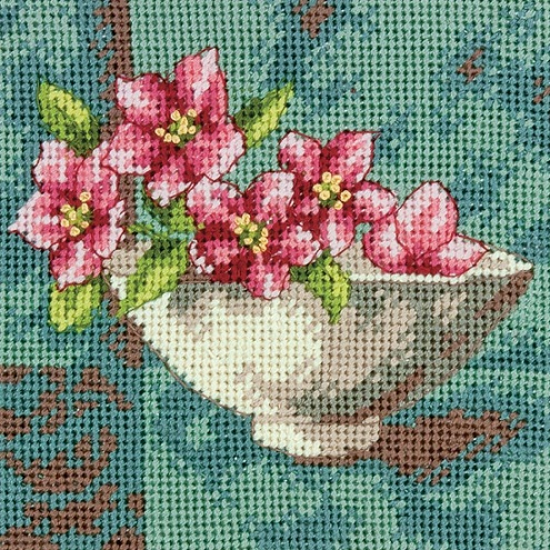 click here to view larger image of Dogwood Blossom (needlepoint kits)