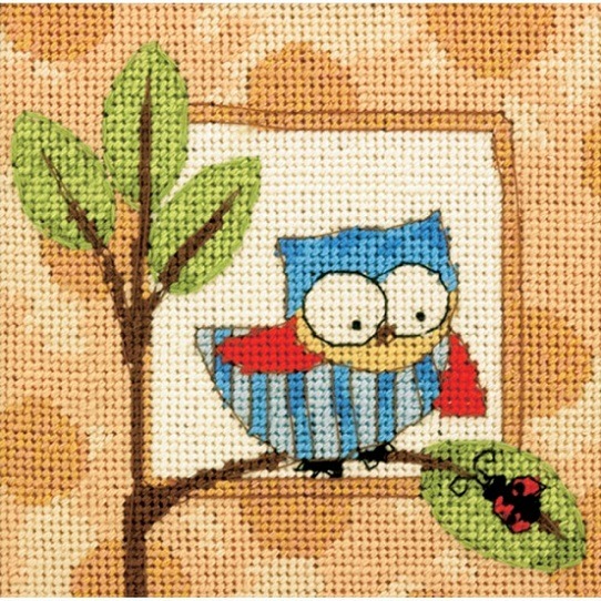 click here to view larger image of Curious Owl (needlepoint kits)
