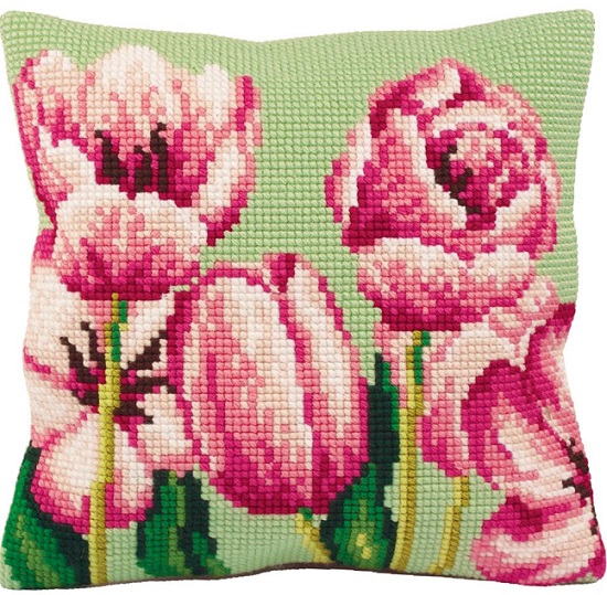 click here to view larger image of Tulipe A Gauche (Tulip on the Left) (needlepoint kits)